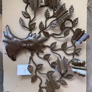 World Menagerie Butterfly Tree Artisan Crafted Iron With Butterfly Motif Wall Décor