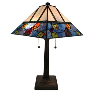 Reviews Tiffany Style 22 Table Lamp By Amora Lighting
