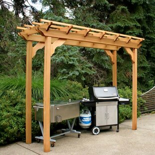 Cedar New Dawn 8 Ft. W x 3 Ft. D Solid Wood Pergola by Creekvine Designs
