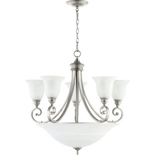 Winston Porter Cambron 9-Light Shaded Chandelier