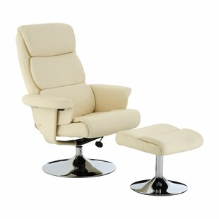Swivel Recliner With Footstool By Symple Stuff
