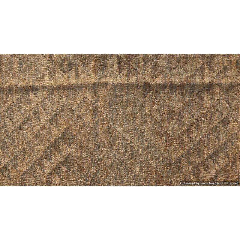 Melbourne Handmade Kilim Wool Brown Rug