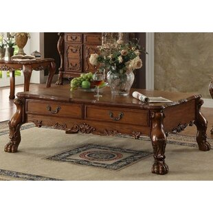 Kyra Wooden Coffee Table with Storage Astoria Grand