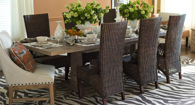 Decorate A Transitional Dining Room Wayfair - Transitional dining room sets