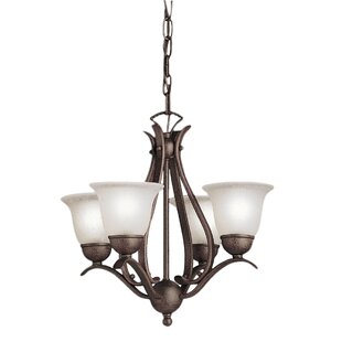 Alcott Hill Cayman 4-Light Shaded Chandelier