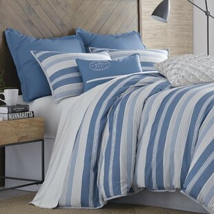 Skipper Stripe Twin Cotton Reversible Comforter Set