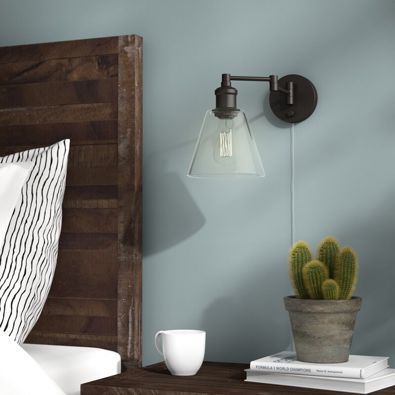 Aidan 1-Light Swing Arm Lamp