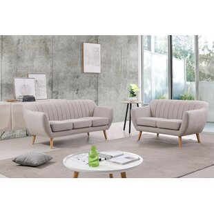 George Oliver Villalba Sophisticated and Stylish 2 Piece Living Room Set