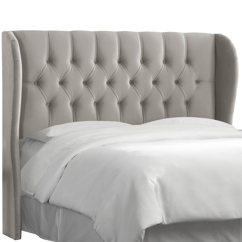 super popular 2576b 4b52f Thames Tufted Linen Upholstered Wingback Headboard