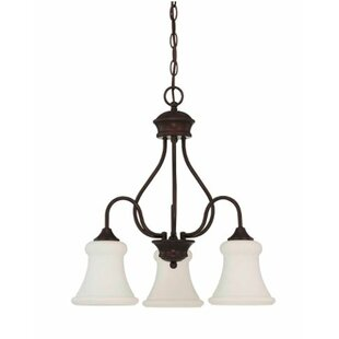 Charlton Home Freeborn Down 3-Light Shaded Chandelier