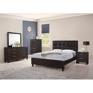 Ebern Designs Pelkey Queen Panel 5 Piece Bedroom Set