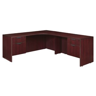 Linh Double Pedestal Credenza Right L-Shape Corner Desk