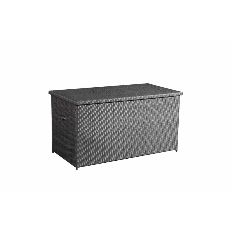 Velago 215 Gallon Wicker Deck Box  Color: Charcoal