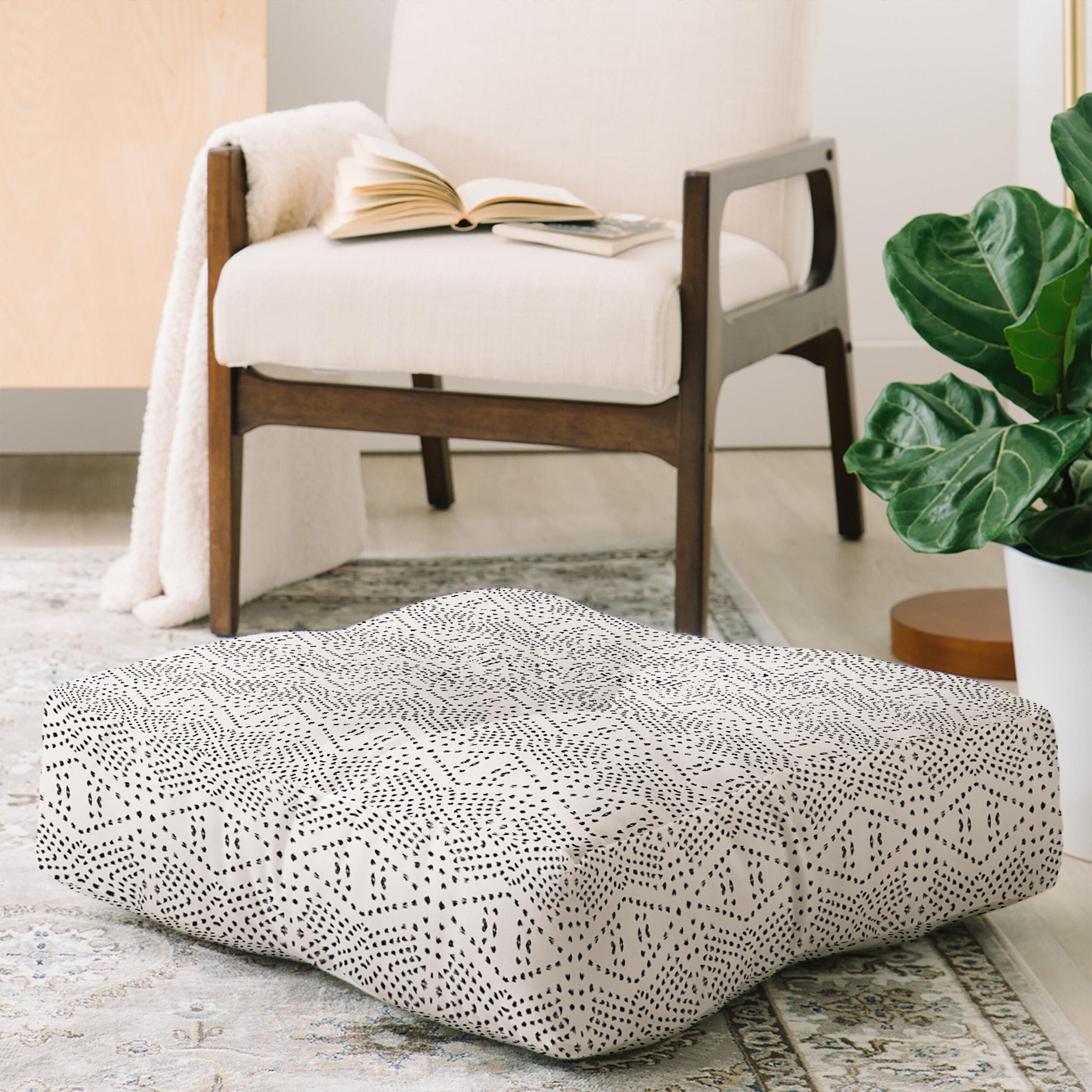 Mistana Shoshana Square Floor Pillow Reviews Wayfair