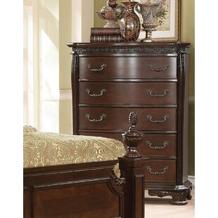 Rishel Traditional 5 Drawer Standard Chest