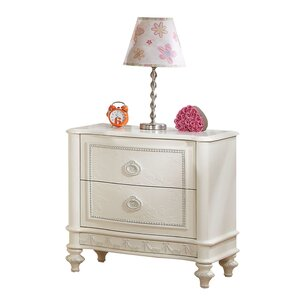 Dorothy Ivory 2 Drawer Nightstand