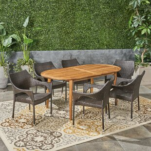 Kalvin Outdoor 7 Piece Dining Set