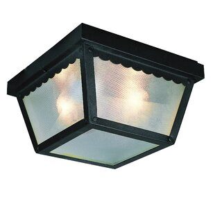 Ebern Designs Holter Outdoor Flush Mount