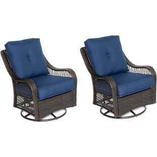 Longshore Tides Nunda Patio Chair with Cushions (Set of 2)