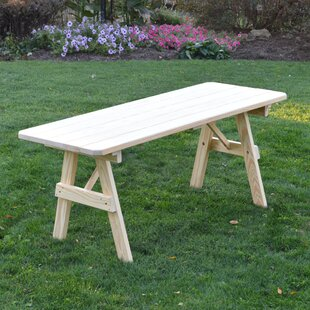 Bertram Wooden Picnic Bench by World Menagerie