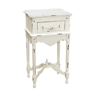 Castonguay Milkpaint End Table by Highland Dunes