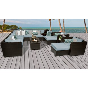 Medley 13 Piece Sectional Seating Group with Cushions