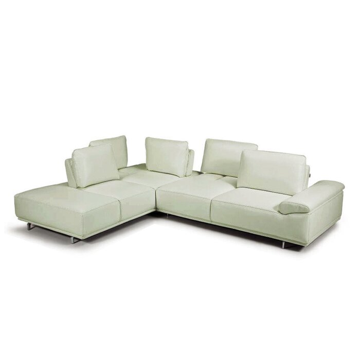 Superb Roxanne Leather Sectional Caraccident5 Cool Chair Designs And Ideas Caraccident5Info