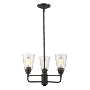 Laurel Foundry Modern Farmhouse Clayton 3-Light Glass Semi Flush Mount