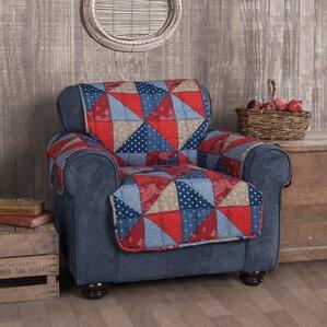 Americana Box Cushion Armchair Slipcover by Innovative Textile Solutions