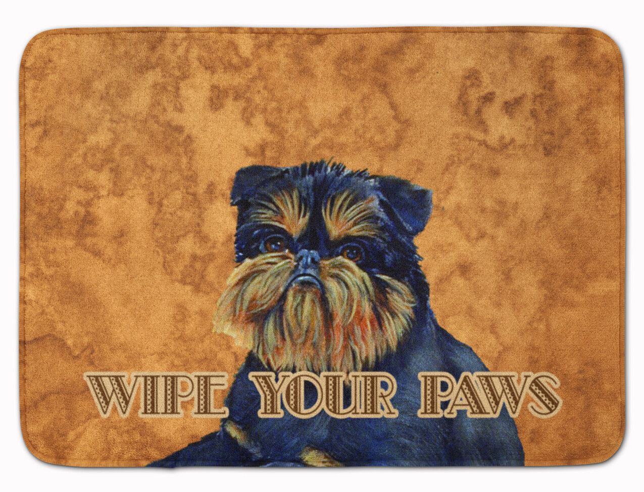 East Urban Home Brussels Griffon Wipe Your Paws Rectangle Microfiber Non Slip Bath Rug Wayfair