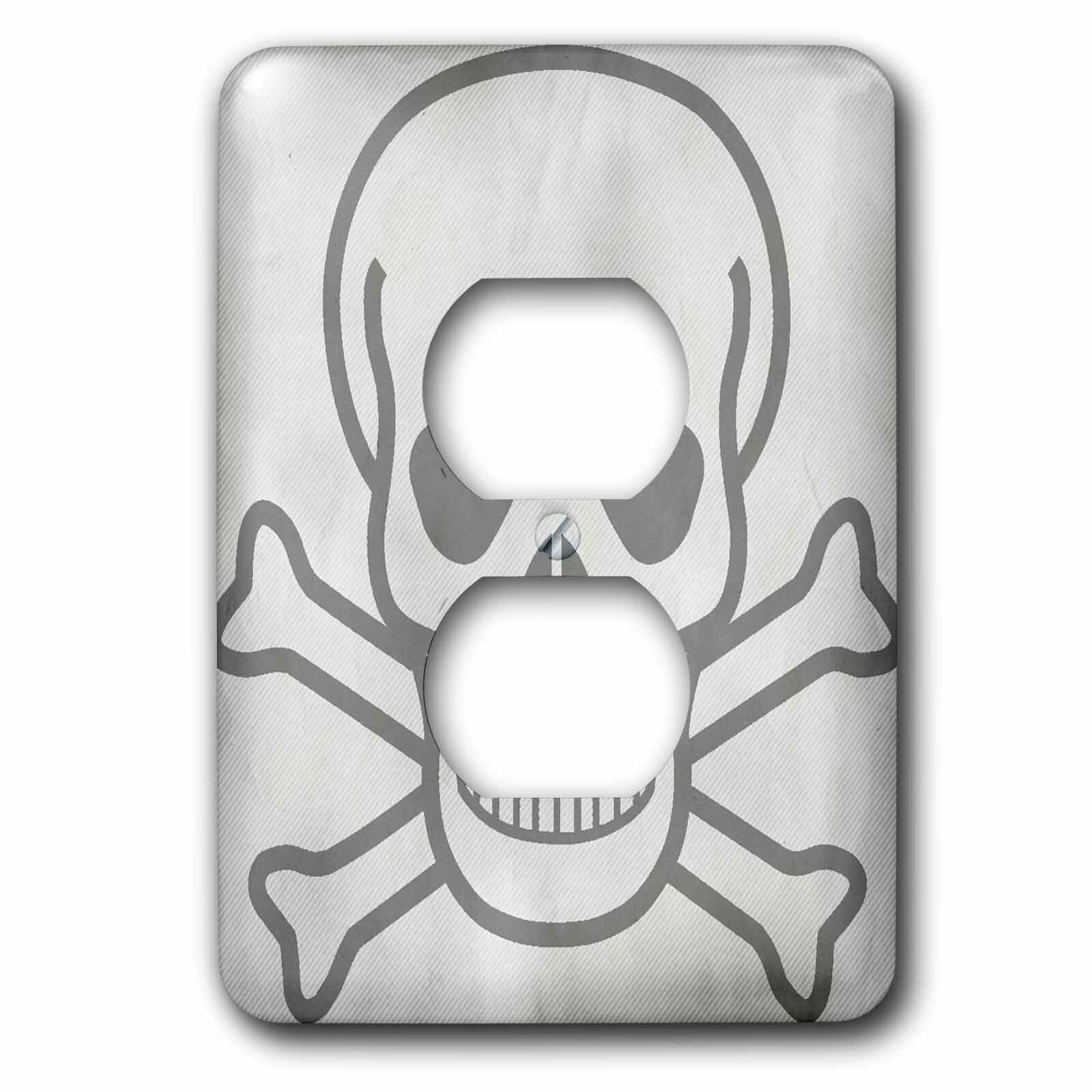 3drose Skull And Crossbones 1 Gang Duplex Outlet Wall Plate Wayfair