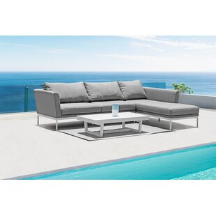 Cascade Patio Sectional With Sunbrella Cushions by Orren Ellis 2019 Coupon