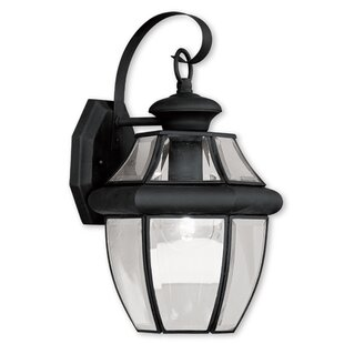 Top Gustavson 1-Light Outdoor Wall Lantern By Three Posts