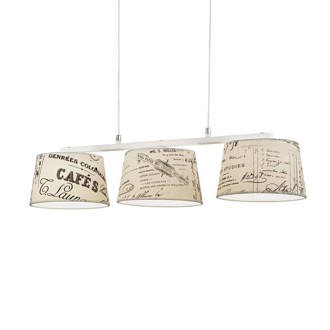 Caesar 3-Light Kitchen Island Pendant