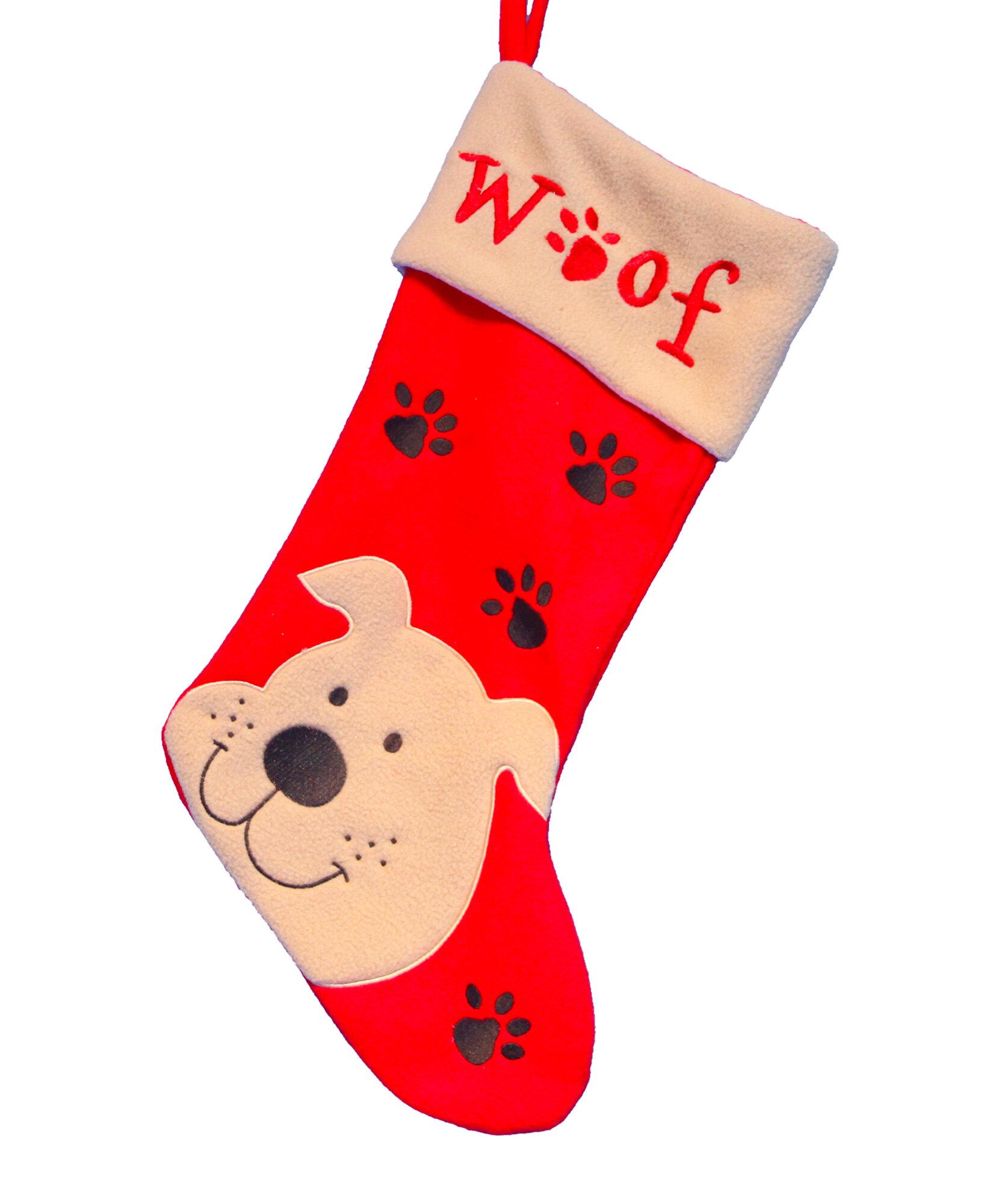 The Seasonal Aisle Weihnachtsstrumpf Dog   Wayfair.de