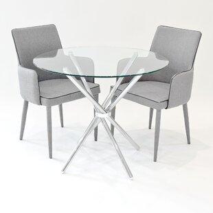 Brosnan Circular Dining Set With 2 Chairs By Metro Lane