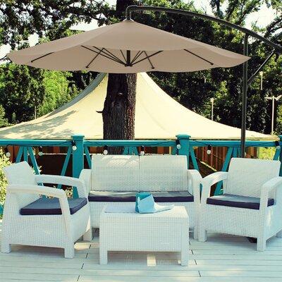 Breakwater Bay Vassalboro 10' Cantilever Umbrella Fabric Color: Sand