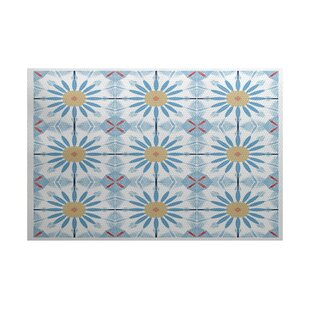 Abbie Blue/Yellow Indoor/Outdoor Area Rug By Ebern Designs