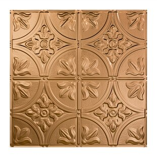 Traditional 2 2 ft. x 2 ft. Drop-In Ceiling Tile in Polished Copper