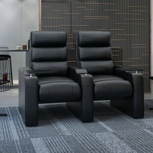 Latitude Run Manual Rocker Recline Home Theater Row Seating (Row of 2)