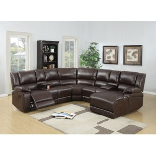 Lagarde Reclining Corner Sectional Red Barrel Studio
