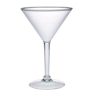 4 Piece 8 Oz. Acrylic Martini Glass Set (Set Of 4) By Chenco Inc.