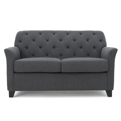 Amabel Loveseat Upholstery Color: Dark Gray by Andover Mills