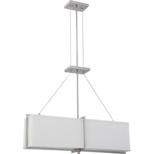 Fenner 4-Light Rectangle Pendant by Orren Ellis