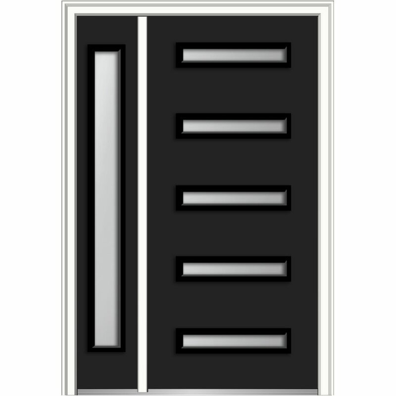 Verona Home Design Spotlight Gl Ready To Install Steel Prehung Front Entry Door Wayfair