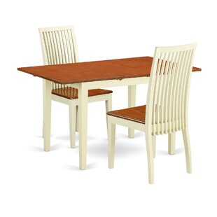 Balfor 3 Piece Solid Wood Dining Set Andover Mills