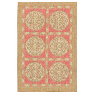 Coeur Tile Pink/Green Indoor/Outdoor Area Rug By Highland Dunes