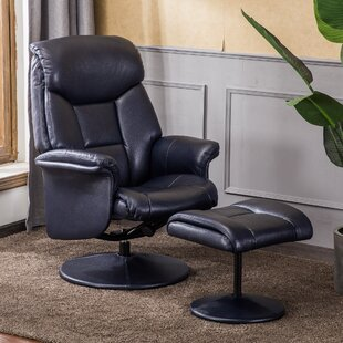 McCullom Orson Manual Swivel Recliner With Footstool By Marlow Home Co.