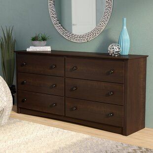 Silvers 6 Drawer Double Dresser by Winston Porter