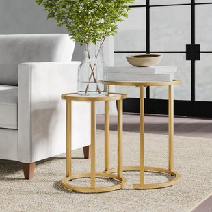 Morones Glam 2 Piece Nesting Tables Greyleigh